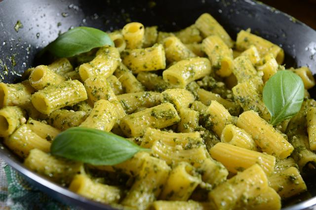 Pasta with green goddess sauce