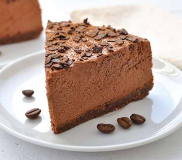 Chocolate coffee liqueur cheesecake