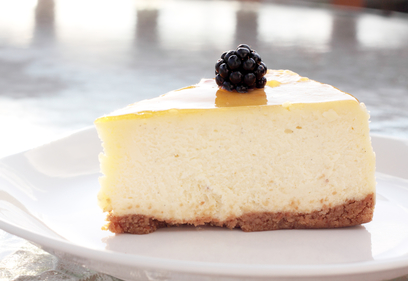 Baked citrus cheesecake