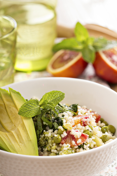 Avocado couscous salad