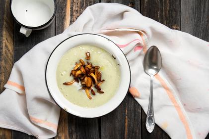 Wild mushroom soup