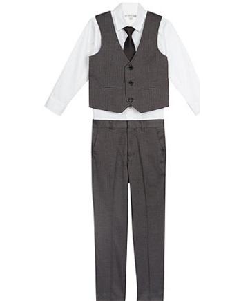 Designer Grey Herringbone Suit