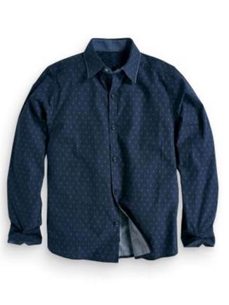Navy Print Shirt