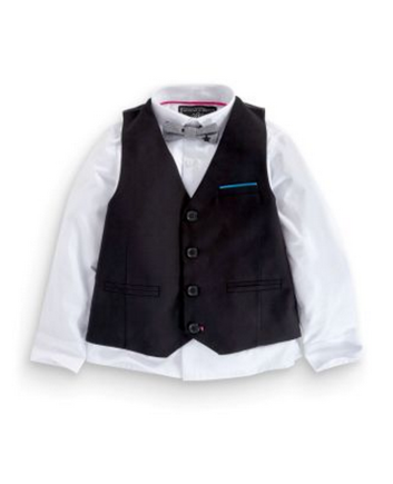 Black Waistcoat, Shirt and Bow Tie