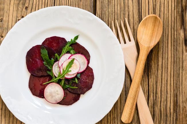 Beetroot Carpaccio with radish salad