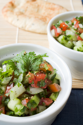 Spiced cucumber and chilli salad
