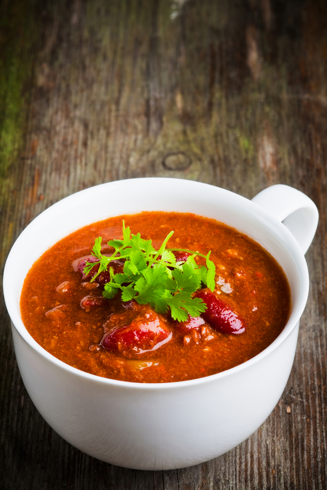 Spicy bean and beef chilli