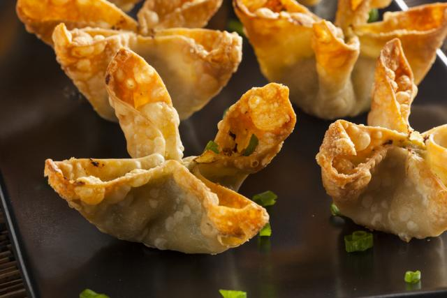 Cheese and spinach parcels