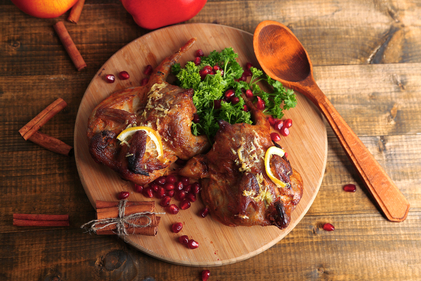 Chicken tagine with pomegranate