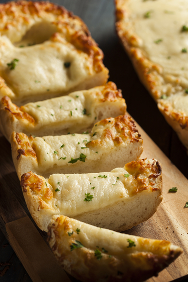 Garlic and melted cheese wedges