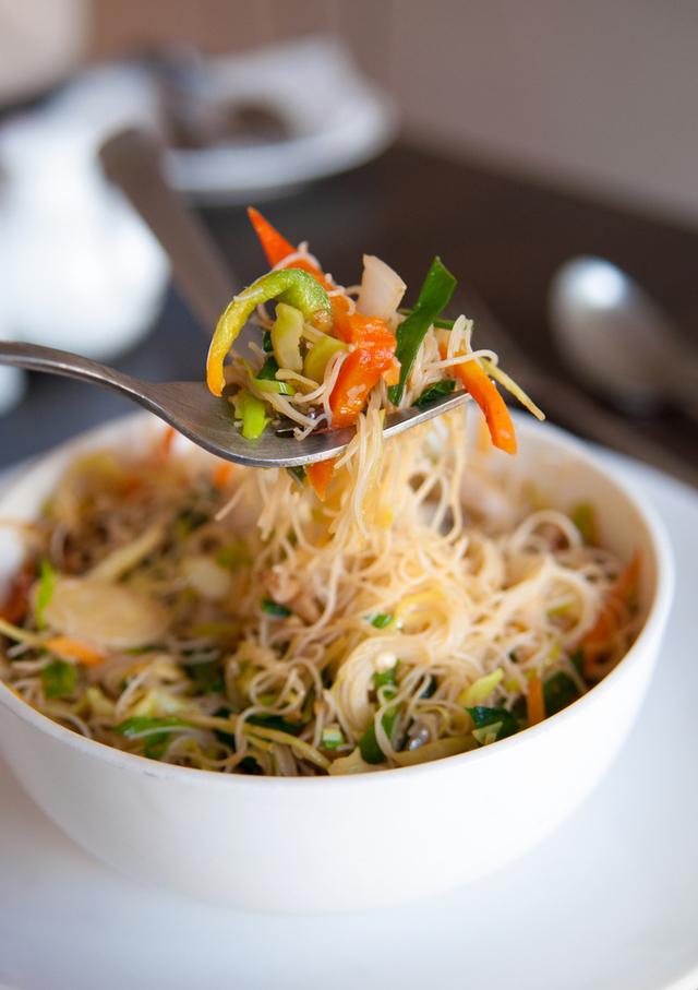 Vegetarian Singapore vermicelli