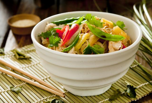 Chinese-style hot noodle salad