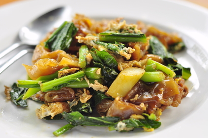 Asian greens with sticky sesame infused rice