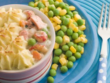 Fish and sweetcorn pie