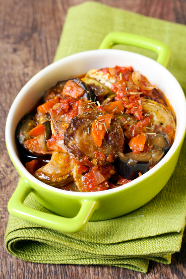 Courgette and aubergine stew