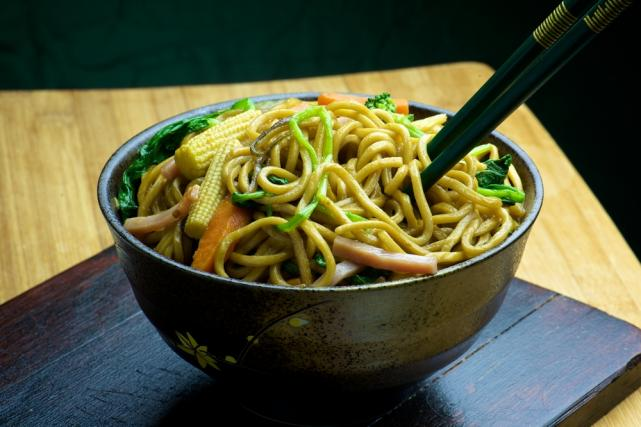Pork Chow Mein with vegetables