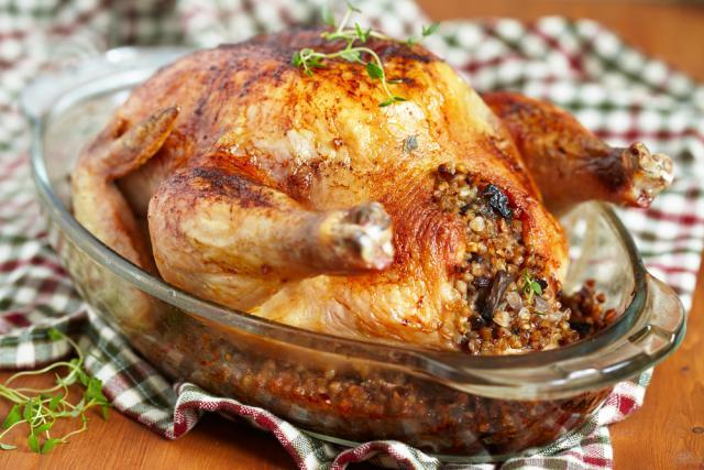 Farm fresh roast chicken and stuffing