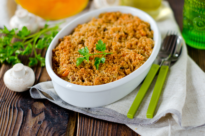 Celeriac and squash crumble