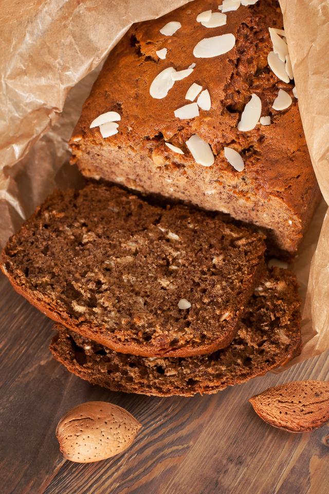 Egg free almond butter bread