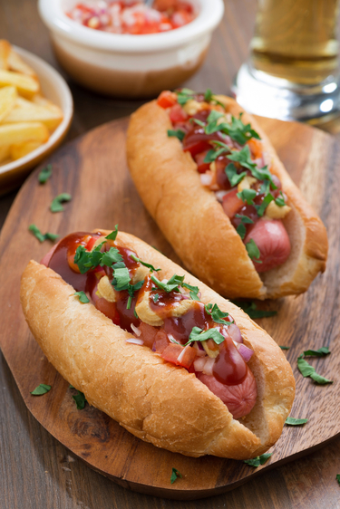 Rustic hot dogs