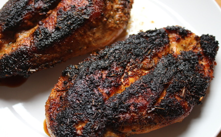 Blackened Cajun chicken