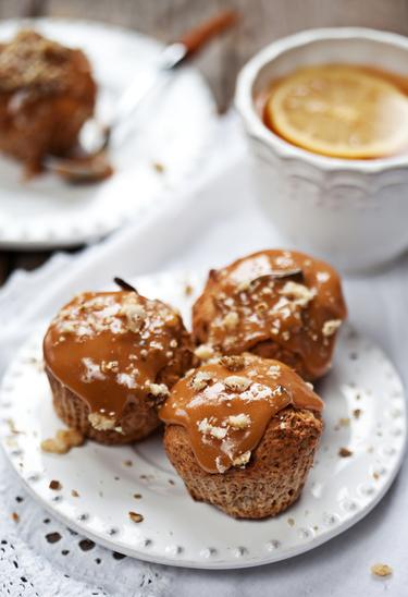 Caramel Easter egg muffins