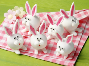 Easter rabbit red velvet truffles