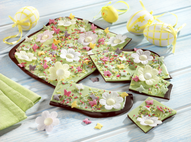 Easter chocolate slab