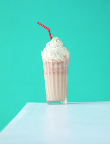 Praline milkshake and chantilly cream