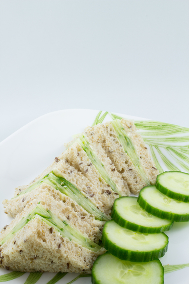 Cucumber and fresh herb tea sandwiches