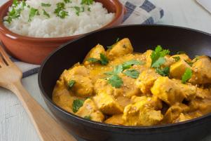 Chicken curry for a large party