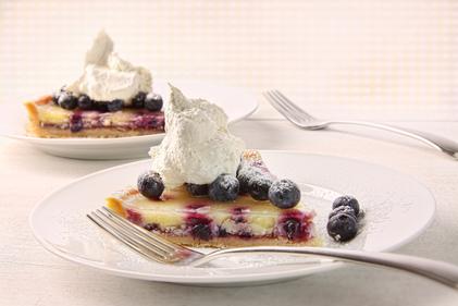 Lemon and blueberry tart