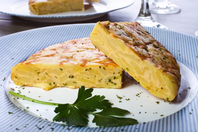 Potato and cheese tortilla