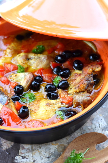 African chicken tagine