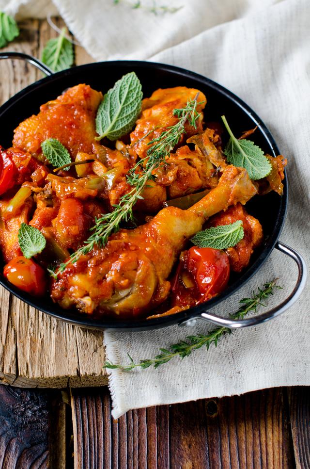 Chorizo chicken cacciatore