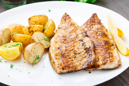 Spiced mackerel with cumin potatoes