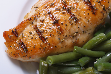Garlic chicken with green beans
