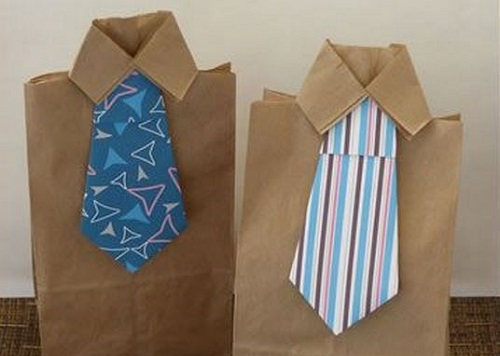 Dads tie gift bag
