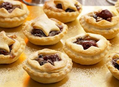 Mince Pies with Almond & Morello Cherries