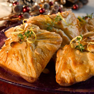 Turkey, Bacon and Almond Parcels