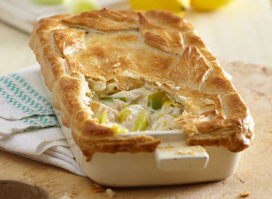 Chicken, Leek and Lemon Puff Pie