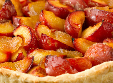Plum & Ginger Autumn Tart