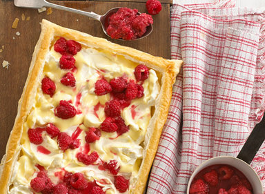 Raspberry & Creamy Custard Open Tart