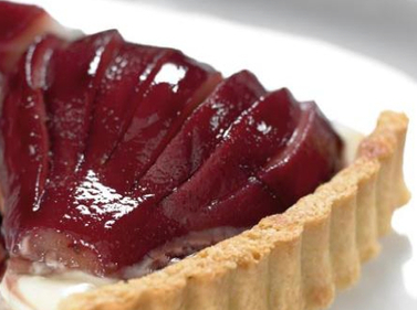 Mulled Wine Pear Tart