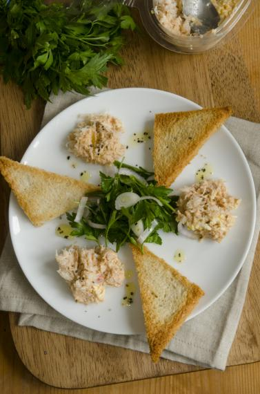 Crab, chilli and lime on sourdough toast
