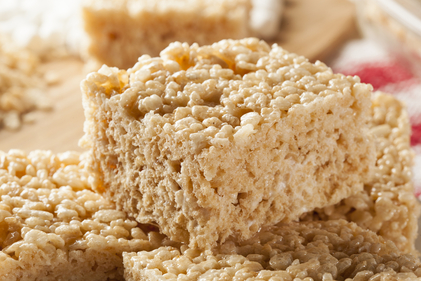 Peanut butter puffed rice bars