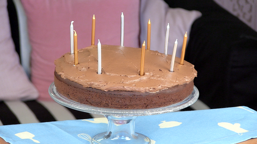 Chocolate cola celebration cake