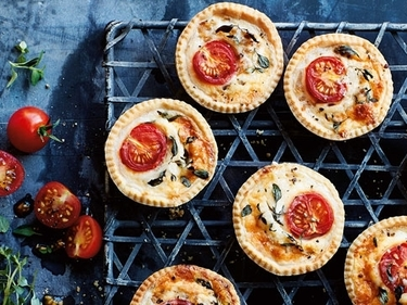Mini Cheese and Tomato Tartlets