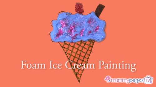 How to make a Foam Ice Cream Painting