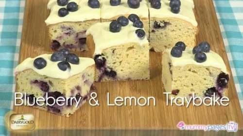Blueberry & Lemon Traybake